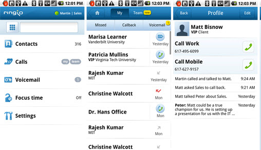 Ringio3ScreenShots Ringio: Offering the Potential to Enrich Skype for iPhone Businesss Calls