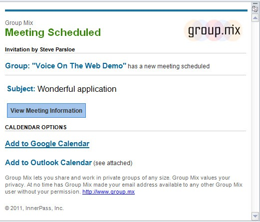 GroupMix.EmailInvite thumb Group Mix: Persistent Collaboration for Team Building