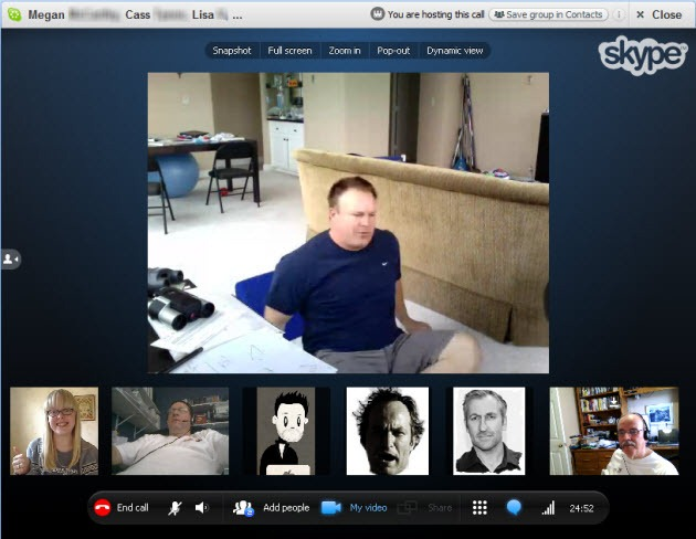 how to group voice chat on skype on ipad