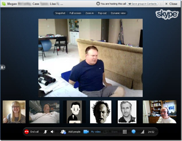 Skype Group Video First 7 Party Call Experience