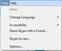 S4W.5 3 120.ToolsMenu Whither Skype Extras II?   Skype for Windows 5.3 Hotfix and The Survivors
