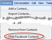 SkypeForWindows.5 5.HideFBContacts1 Skype for Windows 5.5 beta: First Impressions with Facebook Integration