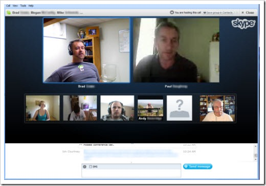 S4W5 5.beta .GroupVideoCall thumb Skype 5.5 for Windows: Deeper Facebook, New Emoticons and More