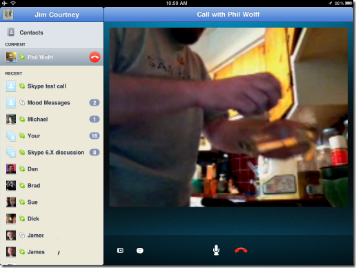 S4iPad.CallwithPhilWolff thumb Skype for iPad: Yes, It's Now Real!
