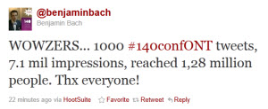 1000Tweets.140ConfOnt Twitter: Changing Lives–One Twitter Feed at a Time