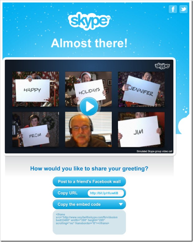 "SIWS.AlmostThere thumb Experience Skype Revenue Features through Free Holiday ""Specials"""