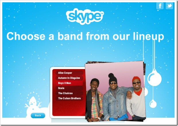 "SIWS.ChooseBand thumb Experience Skype Revenue Features through Free Holiday ""Specials"""