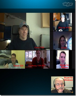 Vidtel.MeetMe.SkypeView.19Dec11.labeled thumb Vidtel MeetMe: A First Glimpse at Group Video Conferencing Interoperability
