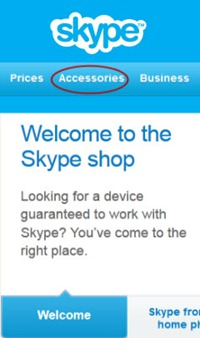 SkypeShop.Welcome thumb Skype Shop Revamped: Transition to a Full E Commerce Site–The Purchase