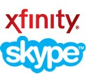 Xfinity.Skype .logo thumb Skype on Xfinity: A Viable Alternative for Skype for TV?
