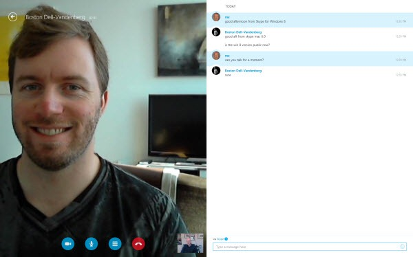 S4W8.BostonDVVideoCall thumb Skype for Windows 8: A New Skype Experience