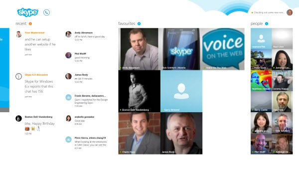 S4W8.Dashboard thumb Skype for Windows 8: A New Skype Experience