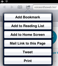 iPad.AddToHomeScreen thumb Voice On The Web Improves Visitor Friendliness