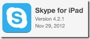 Skype4iPad.4 2 1.logo thumb Skype 4.2 for iPad: Microsoft Integration, Edit/Remove Chat and more