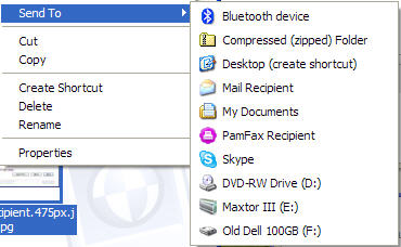 Skype FT in Windows Explorer