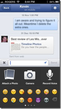 FBMsngr.KevinB.VMsg .Photo thumb Facebook Messenger 2.1 for iOS: Voice Messaging and Voice Calling (for Canadians only)