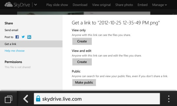 BB10.SkypeDrive.ShareOptions thumb A BlackBerry 10 Tale: Why your Microsoft ID is Becoming Important