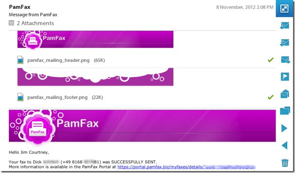 PamFax.PlayBook.Email thumb PamFax for BlackBerry Playbook: A Textbook Android Migration Experience