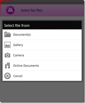 PamFax.PlayBook.SelectFiles thumb PamFax for BlackBerry Playbook: A Textbook Android Migration Experience