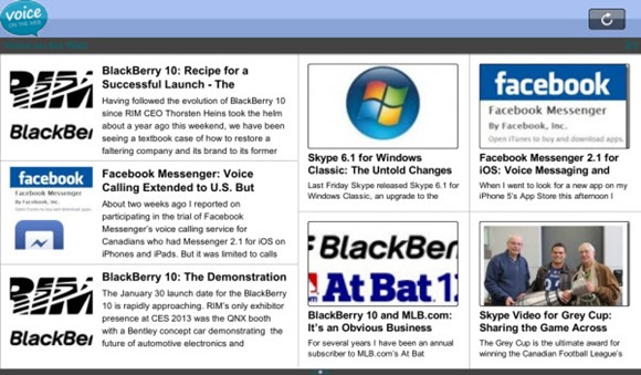 BB.PlayBook.VOTW .Home thumb Voice On The Web: Now a BlackBerry 10 & Playbook App