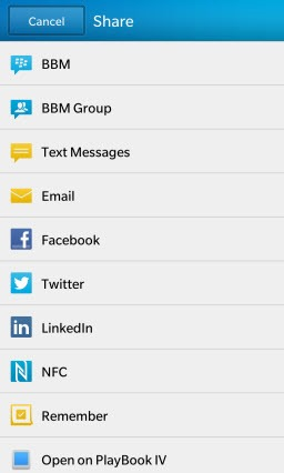 BB10.VOTWApp.ShareOptions thumb Voice On The Web: Now a BlackBerry 10 & Playbook App