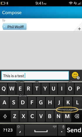 BB10Keyboard.Test1 thumb BlackBerry 10 First Impressions II: Touch Keyboard and Browser