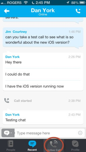 S4iPhone.4 6.DanYork.lChat thumb Skype for iPhone 4.6 – Revising the Calling Experience