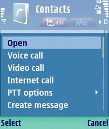 Truphone Contacts on Nokia N80i