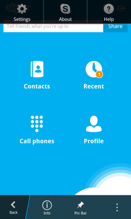 S4BB10.AccessSettings2 Skype for BlackBerry 10.1: Feature Rich Mobile Conversations
