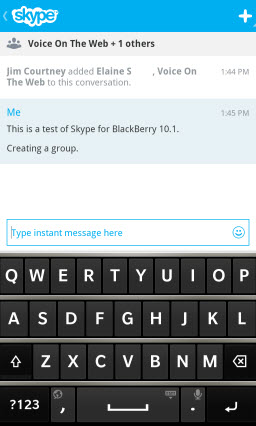 S4BB10.CreateGroup Skype for BlackBerry 10.1: Feature Rich Mobile Conversations