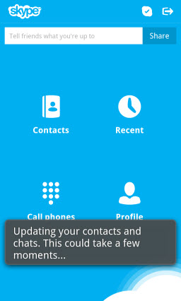 S4BB10.Launch.Pause  Skype for BlackBerry 10.1: Feature Rich Mobile Conversations