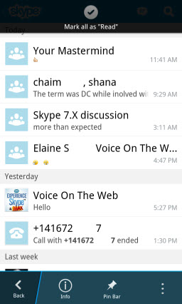 S4BB10.MarkAllRead Skype for BlackBerry 10.1: Feature Rich Mobile Conversations