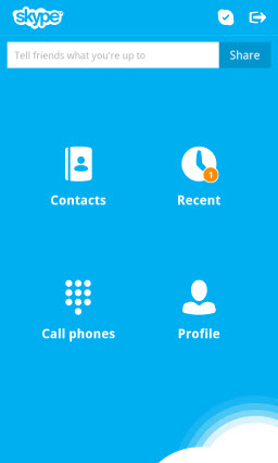 S4BB10.Menu  Skype for BlackBerry 10.1: Feature Rich Mobile Conversations