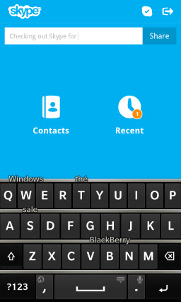 S4BB10.MoodMsgKeyboard Skype for BlackBerry 10.1: Feature Rich Mobile Conversations