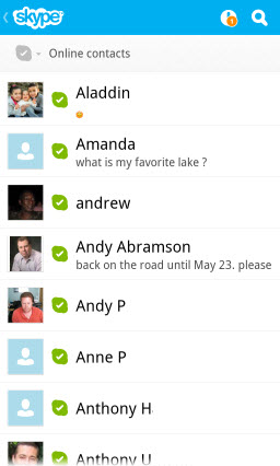 S4BB10.OnlineContacts Skype for BlackBerry 10.1: Feature Rich Mobile Conversations
