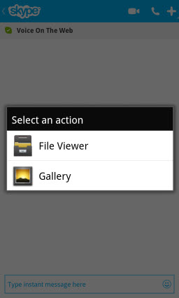 S4BB10.SelectFileSource Skype for BlackBerry 10.1: Feature Rich Mobile Conversations