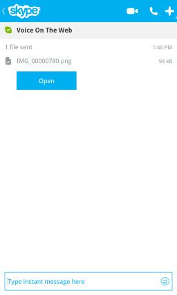 S4BB10.SentFileAccepted Skype for BlackBerry 10.1: Feature Rich Mobile Conversations