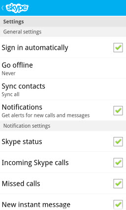 S4BB10.SettingsTop Skype for BlackBerry 10.1: Feature Rich Mobile Conversations