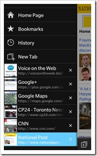 BB10.Browser.ProxyApps.Menu thumb BlackBerry 10: Mobile Websites Proxy Mobile Apps.