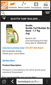 ScottsEzSeed.HomeDepotca thumb BlackBerry 10: Mobile Websites Proxy Mobile Apps.