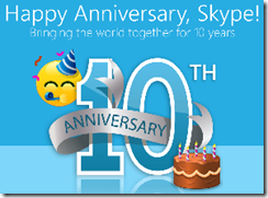 Skype10thAnniversaryLogo thumb Skype: Its Been a 10 Year Ride
