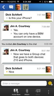 BBM.iOS .ChatSession thumb BlackBerry: BBM for iOS and Android Launches