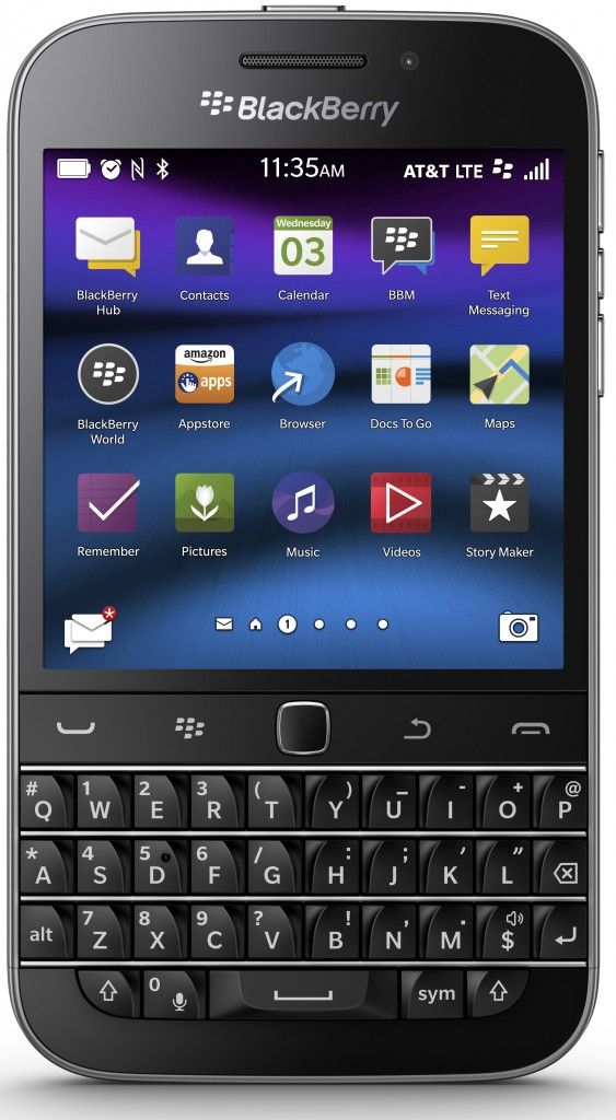BBClassicFront 563x1024 BlackBerry Classic–Beyond The Power of the Keyboard Upgraded